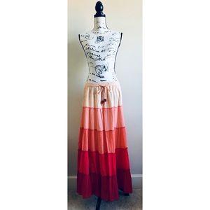 Old Navy Peasant Boho Tiered Maxi Skirt